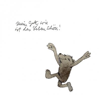 Servietten / Bären,  Sonstiges - Schriften,  Tiere - Bären,  Everyday,  lunchservietten,  Schriften,  Bär
