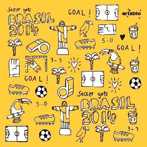 Artablo ,  Sport - Fußball,  lunchservietten,  Fußball,  Brasilien,  WM