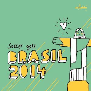 Lunch Servietten Jesus Ioves Soccer,  Sport - Fußball,  lunchservietten,  Fußball,  Brasilien,  WM