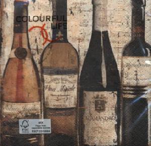 Servietten / Wein - Sekt,  Regionen -  Sonstige,  Getränke - Wein / Sekt,  Everyday,  cocktail servietten,  Rotwein,  Wein