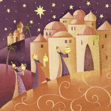 Lunch Servietten three wise man,  Menschen - Personen,  Weihnachten - Sterne,  Weihnachten,  lunchservietten,  Heilige drei Könige