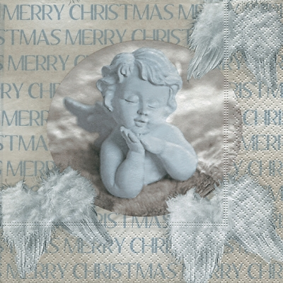Servietten 33 x 33 cm,  Weihnachten,  Weihnachten,  lunchservietten,  Engel,  Flügel