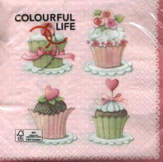 Servietten Blumenmotive,  Blumen -  Sonstige,  Essen - Kuchen / Keks,  Weihnachten,  lunchservietten