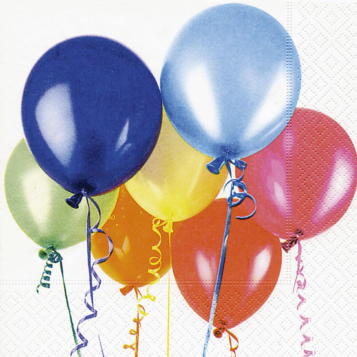 Lunch Servietten flying balloons,  Motive - Luftballon,  Everyday,  lunchservietten,  Luftballon