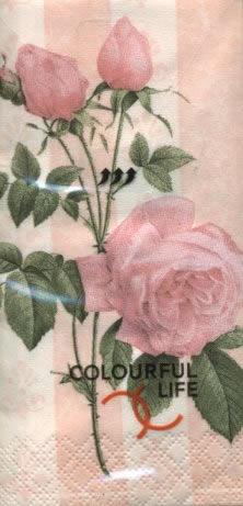 10 bedruckte Taschentücher ,  Blumen,  bedruckte papiertaschentücher,  Rosen