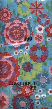 Taschentücher flowerful,  Blumen,  Everyday,  bedruckte papiertaschentücher