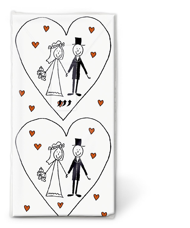10 bedruckte Taschentücher ,  Ereignisse,  Everyday,  bedruckte papiertaschentücher,  Brautpaar,  Hochzeit