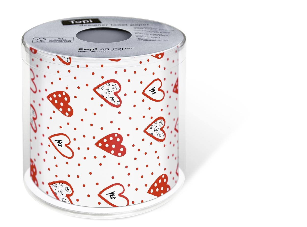 Toilettenpapier Topi yes!,  Everyday,  bedrucktes Toilettenpapier,  Herzen,  Hochzeit