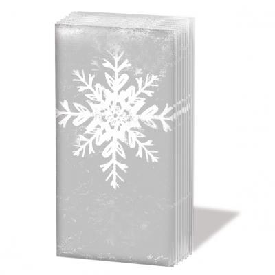 Taschentücher ,  Winter,  bedruckte papiertaschentücher,  Schneeflocken