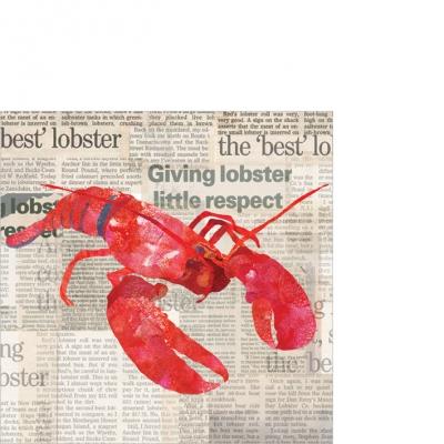 Cocktail Servietten Lobster Shack,  Sonstiges - Schriften,  Essen - Krebse / Krabben,  Everyday,  cocktail servietten,  Hummer,  Schriften