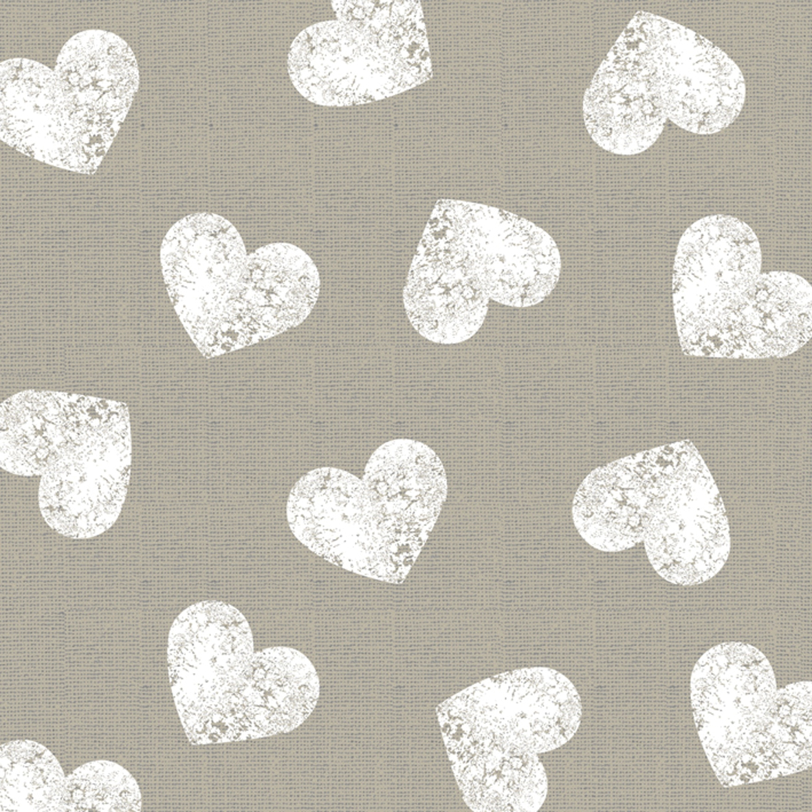 Cocktail Servietten Fashion Hearts taupe white 25x25 cm,  Sonstiges - Muster,  Everyday,  cocktail servietten,  Herzen