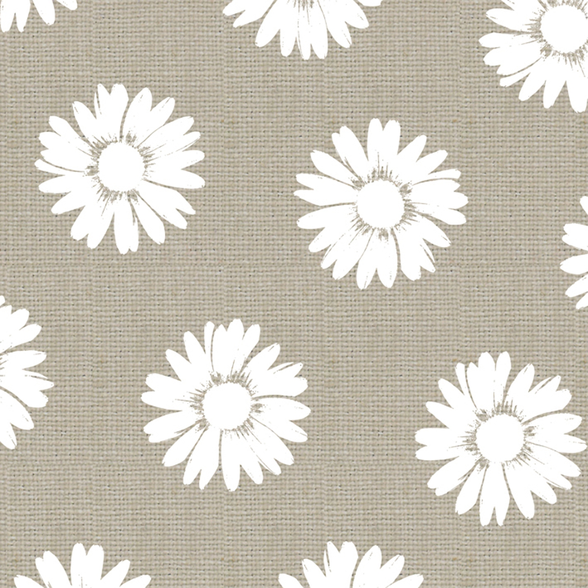 Cocktail Servietten Fashion Daisies taupe white 25x25 cm,  Blumen -  Sonstige,  Everyday,  cocktail servietten,  Blumen