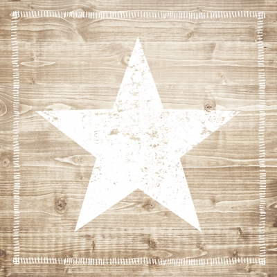 Cocktail Servietten Star Fashion white wood