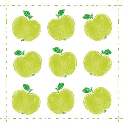 Cocktail Servietten Fashion Apple allover,  Früchte - Äpfel,  Everyday,  cocktail servietten,  Äpfel