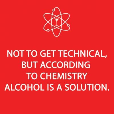 Cocktail Servietten Alcohol Solution