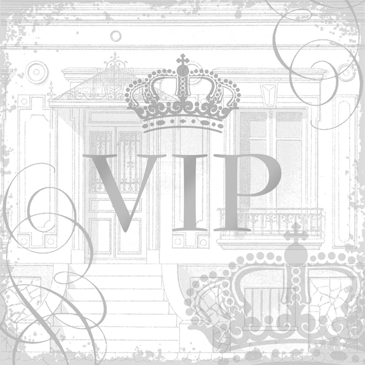 Lunch Servietten VIP silver                       ,  Sonstiges -  Sonstiges,  Everyday,  lunchservietten,  Krone,  Palast,  silber