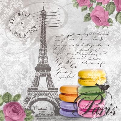 Lunch Servietten Macarons de Paris