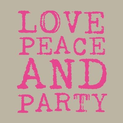 Lunch Servietten Love & Party neon pink,  Sonstiges - Schriften,  Everyday,  lunchservietten,  Schriften