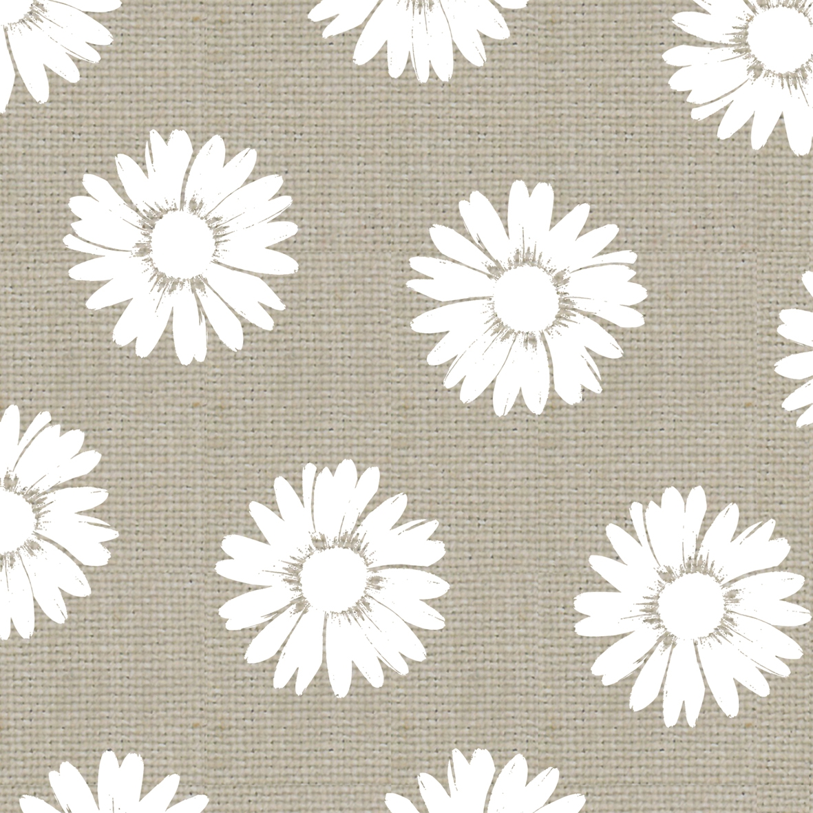 Lunch Servietten Fashion Daisies taupe white     ,  Blumen -  Sonstige,  Everyday,  lunchservietten,  Blumen