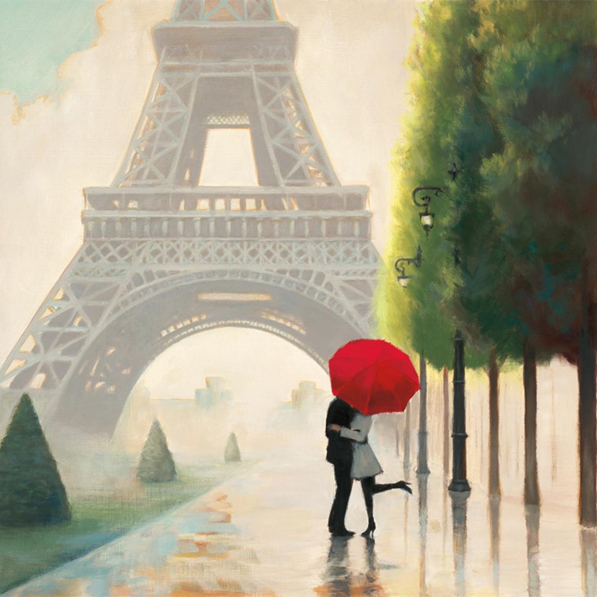 Lunch Servietten Paris Romance                   ,  Menschen - Personen,  Regionen - Länder - Frankreich,  Everyday,  lunchservietten,  Frankreich,  Personen,  Eifelturm