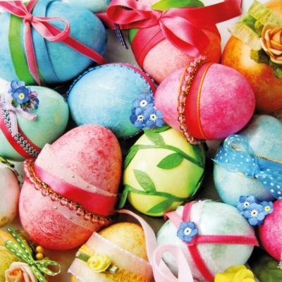 Lunch Servietten Happy Easter Mix,  Ostern - Ostereier,  Ostern,  lunchservietten,  Ostereier