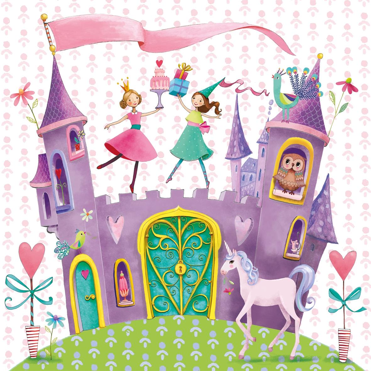 Lunch Servietten Princess Castle
