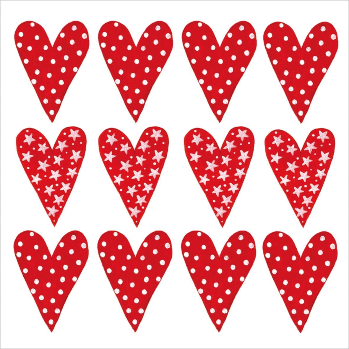 Lunch Servietten Lot of Love,  Ereignisse - Liebe,  Everyday,  lunchservietten,  Liebe,  Herzen