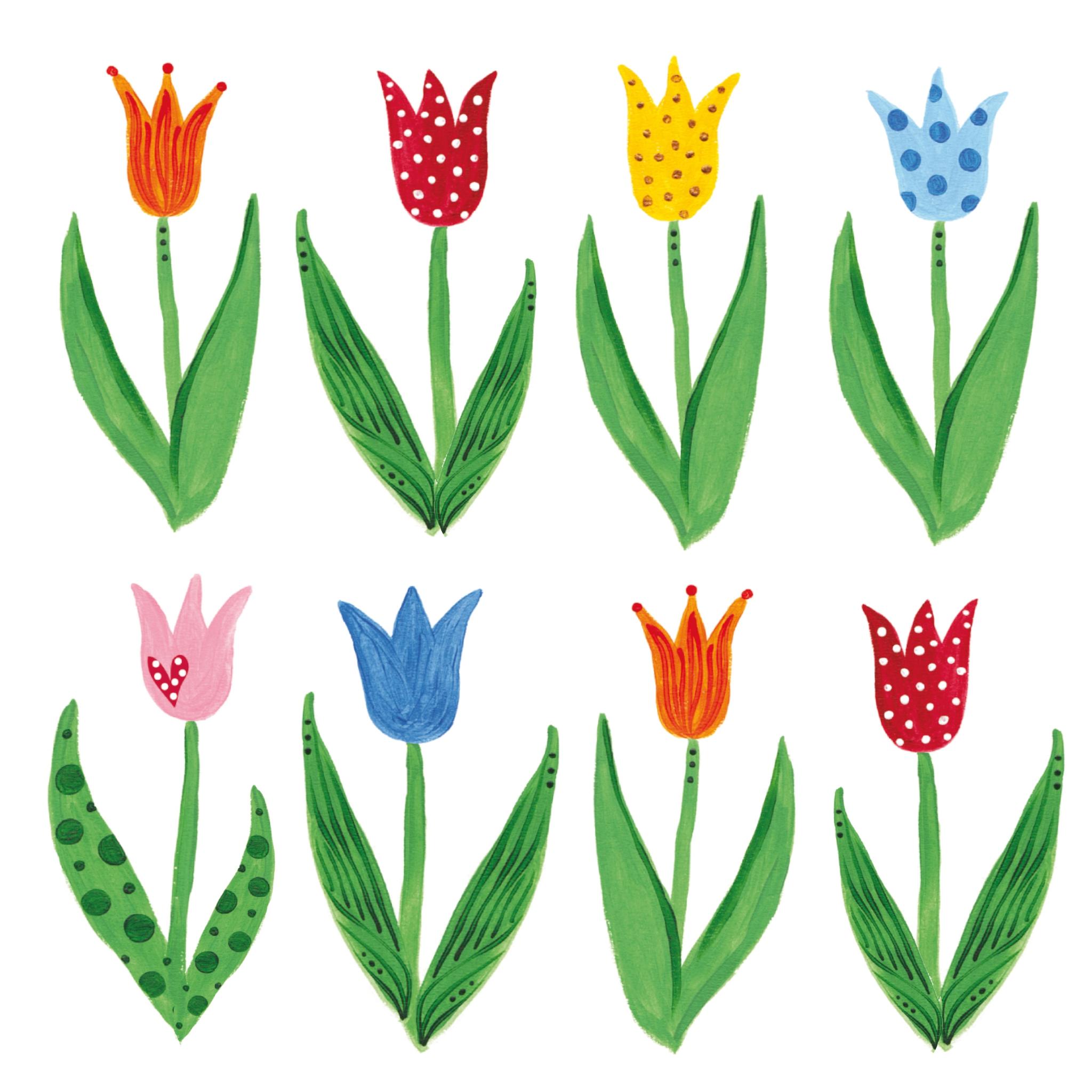Lunch Servietten Anne´s Tulips