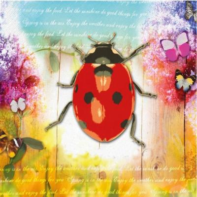 Paperproducts Design,  Tiere - Schmetterlinge,  Tiere - Marienkäfer,  Everyday,  lunchservietten,  Schmetterlinge,  Marienkäfer