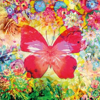 Servietten nach Motiven,  Tiere - Schmetterlinge,  Blumen -  Sonstige,  Everyday,  lunchservietten,  Schmetterlinge,  Blumen