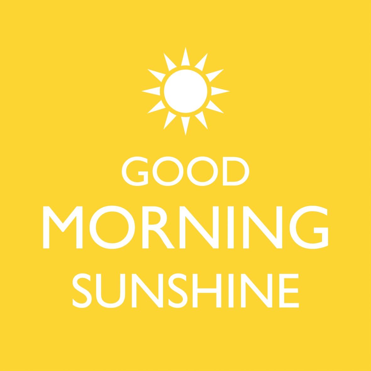 Lunch Servietten Sunny Morning,  Sonstiges - Schriften,  Everyday,  lunchservietten,  Sonne,  gelb