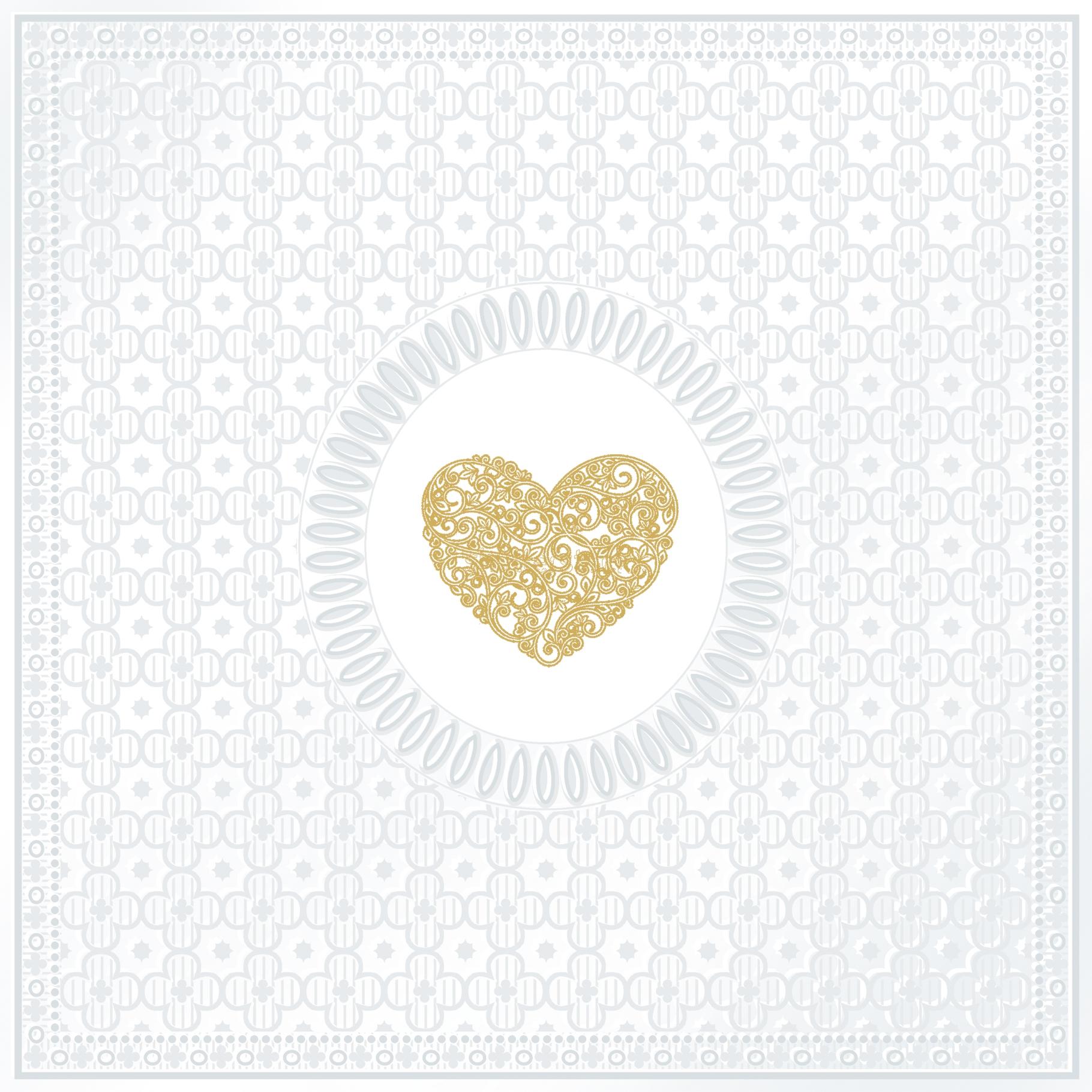 Servietten / geprägt,   geprägte Servietten,  Ereignisse - Liebe,  Everyday,  lunchservietten,  Herz