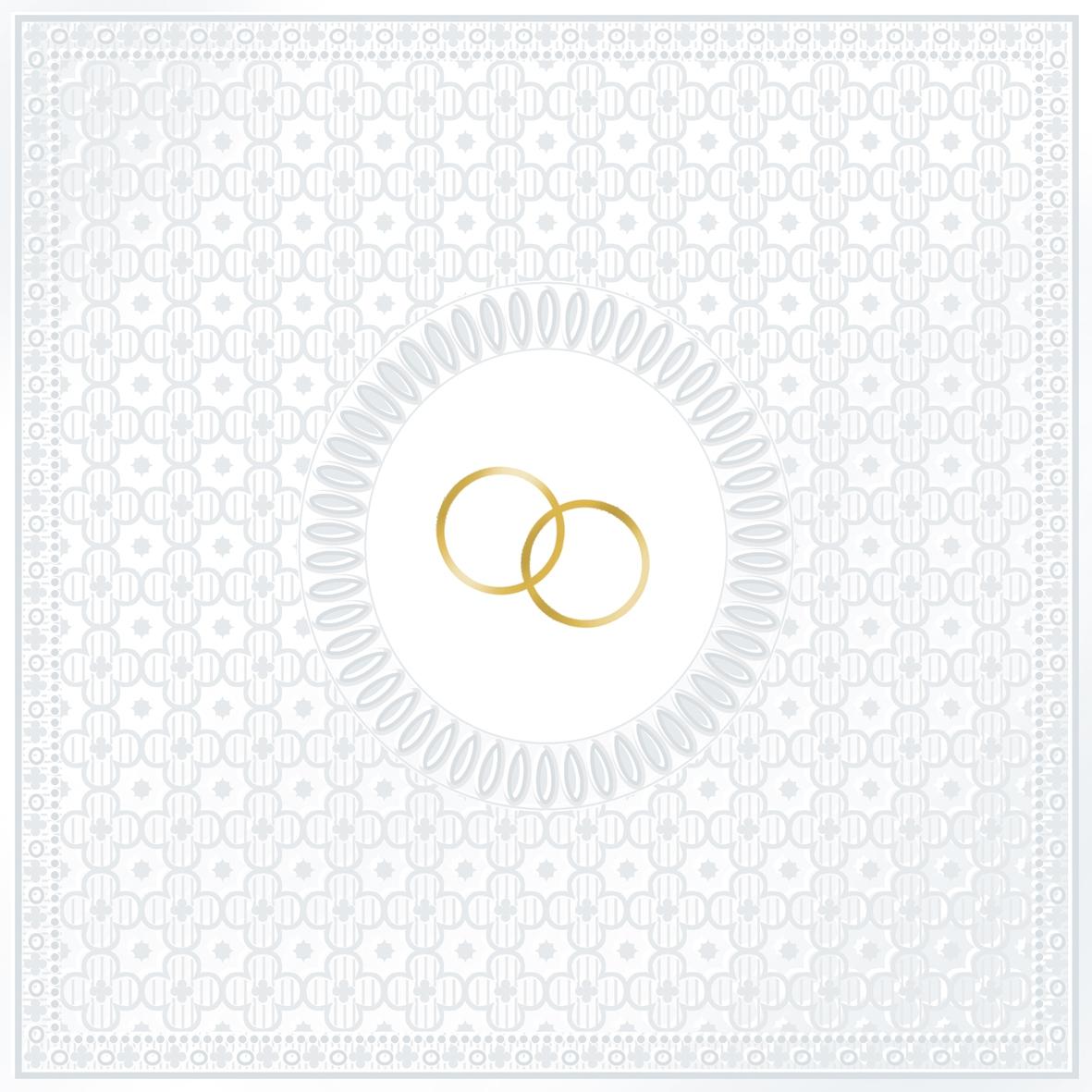 Servietten / geprägt,   geprägte Servietten,  Ereignisse - Hochzeit,  Everyday,  lunchservietten,  Hochzeit,  Ringe