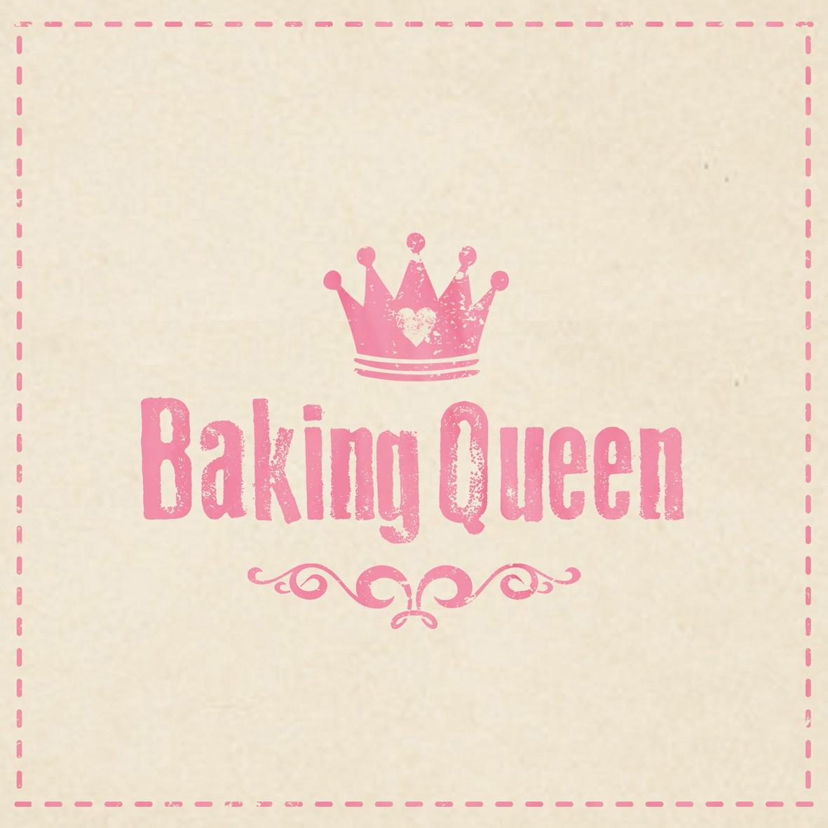 Lunch Servietten Baking Queen,  Sonstiges - Schriften,  Everyday,  lunchservietten,  Schriften