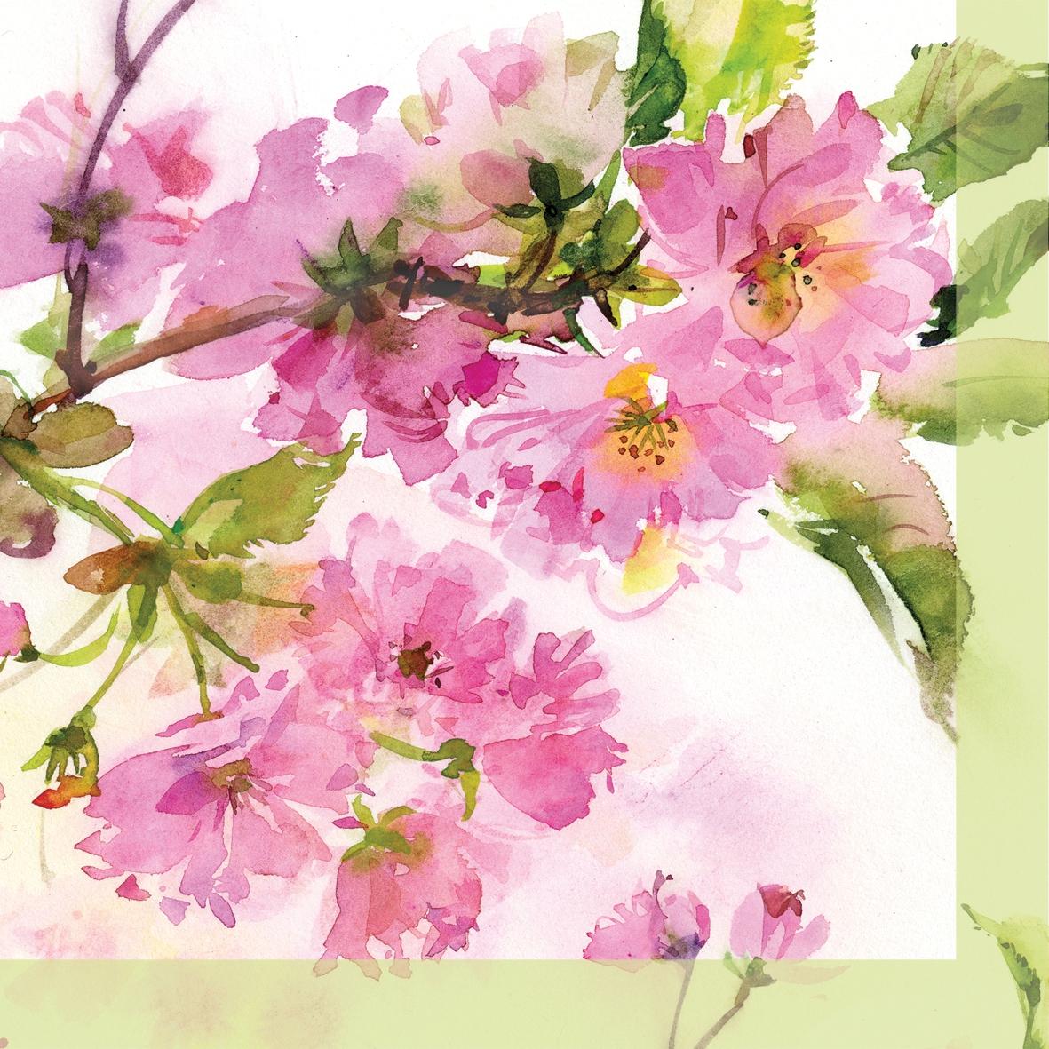 Neuheiten ppd ,  Blumen -  Sonstige,  Everyday,  lunchservietten,  Kirschblüte