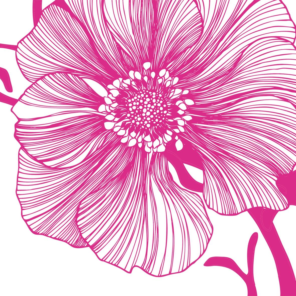 Lunch Servietten Sea Flower pink,  Blumen - Seerosen,  Everyday,  lunchservietten,  Seerosen