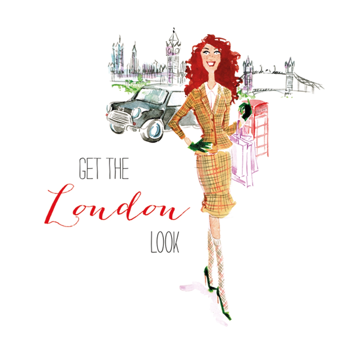 Lunch Servietten London City Girl,  Menschen - Personen,  Regionen - Länder,  Everyday,  lunchservietten,  London,  England,  Personen