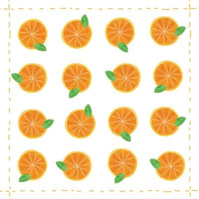 Lunch Servietten Fashion Orange allover