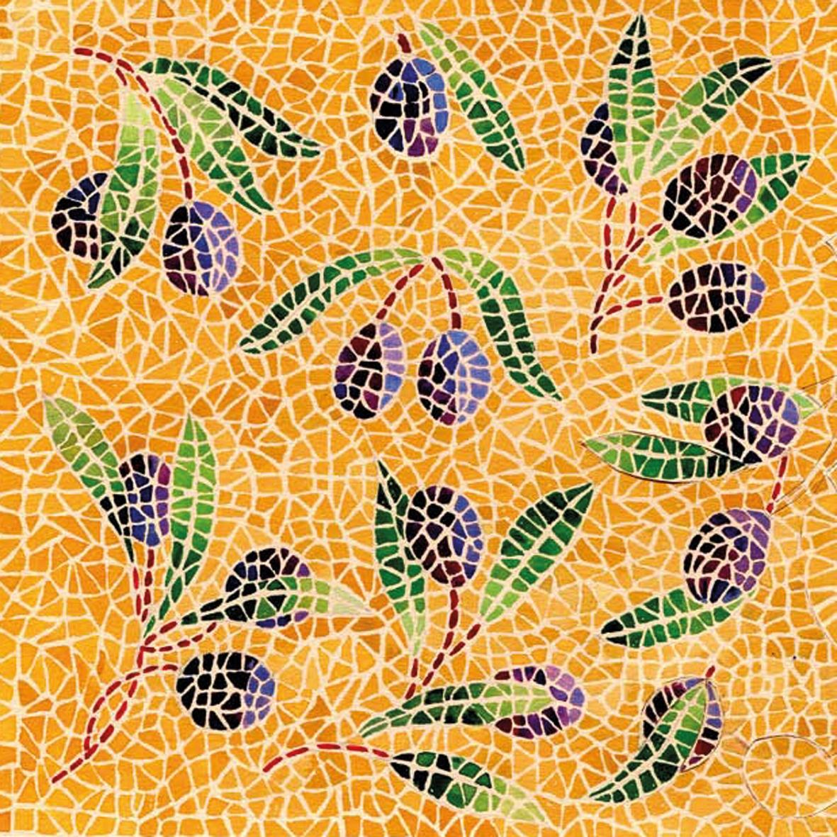 Lunch Servietten Mosaique Olives