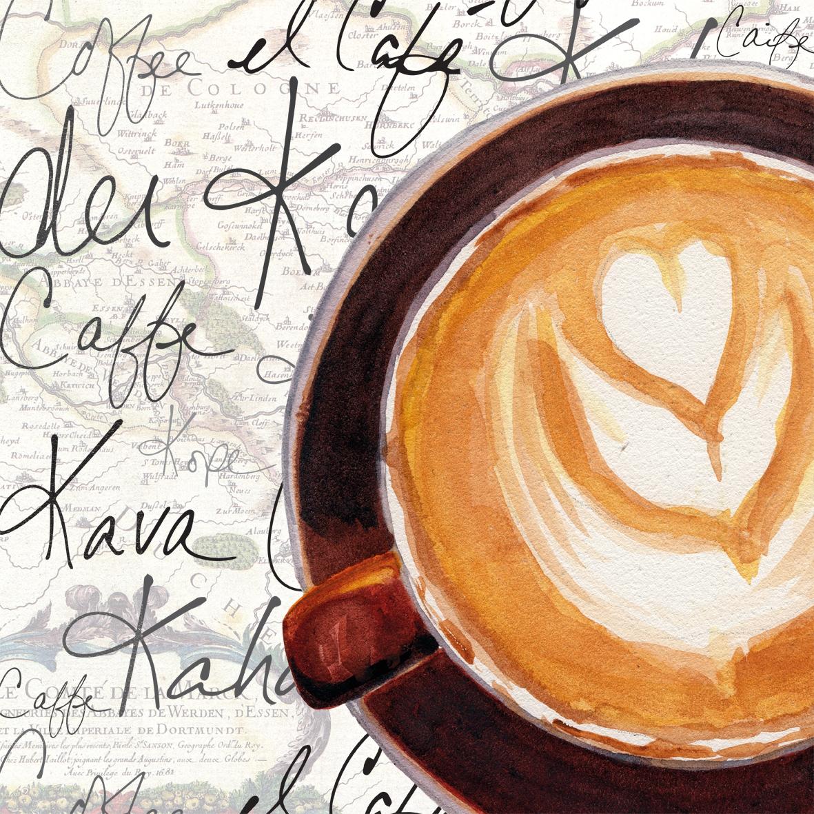 Lunch Servietten Cappuccino Art