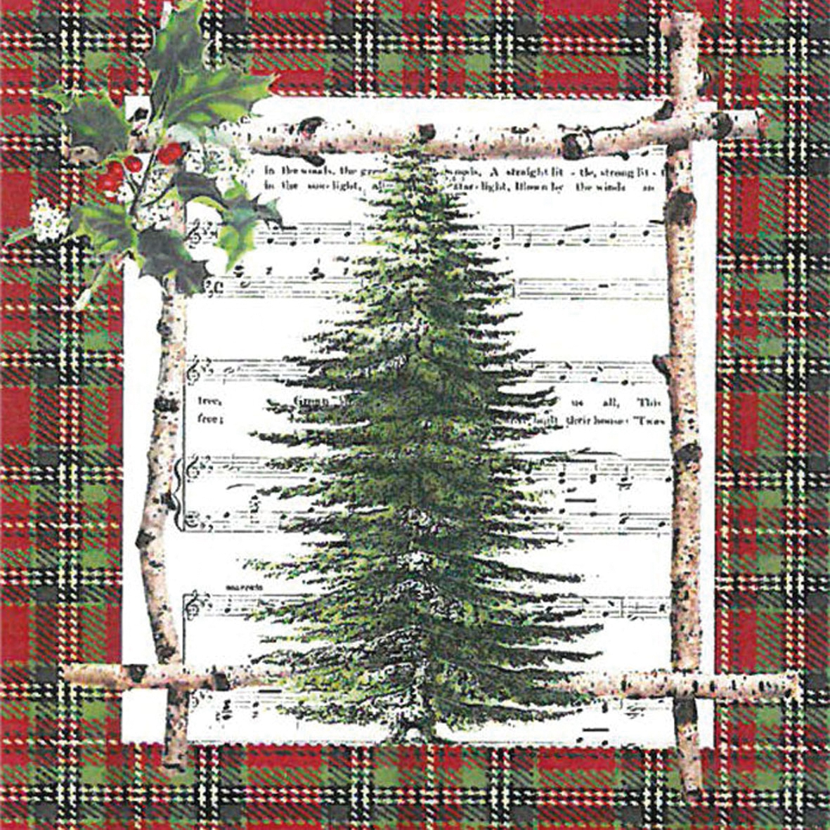 Cocktail Servietten Chalet Tree,  Weihnachten - Weihnachtsbaum,  Weihnachten,  cocktail servietten,  Weihnachtsbaum