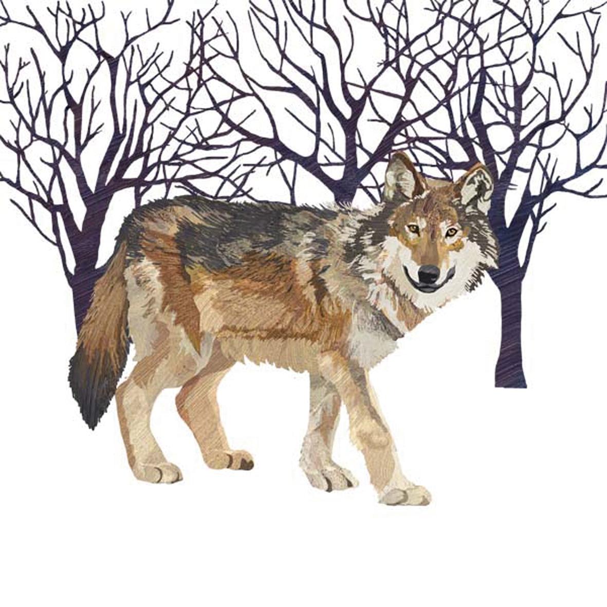 Servietten / Sonstige Tiere,  Tiere -  Sonstige,  Weihnachten,  cocktail servietten,  Wolf