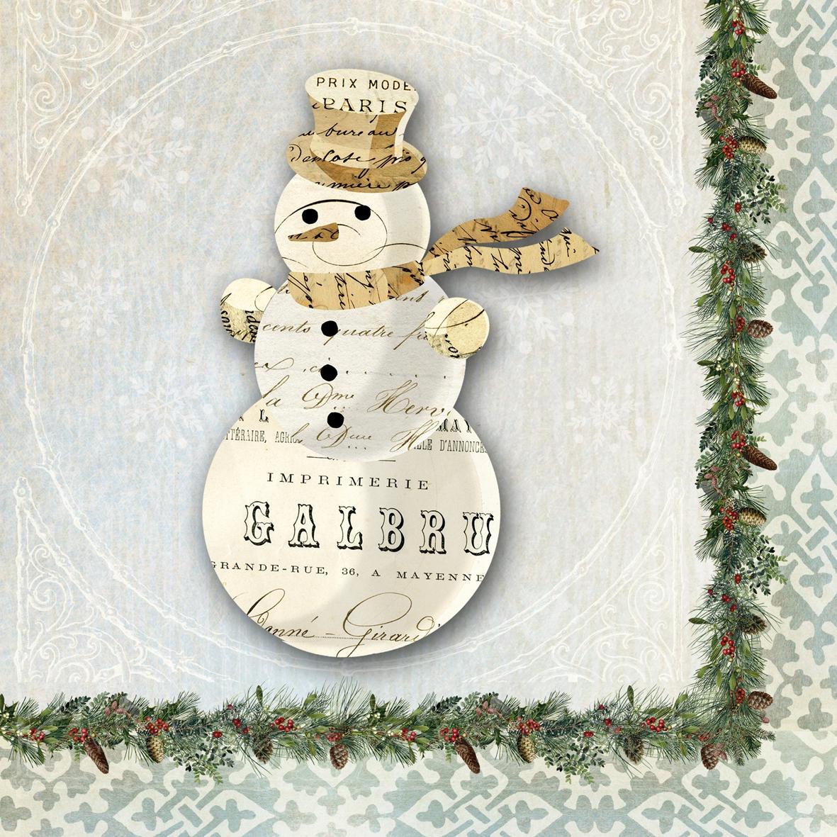 Paperproducts Design,  Winter - Schneemänner,  Weihnachten,  cocktail servietten,  Schneemann