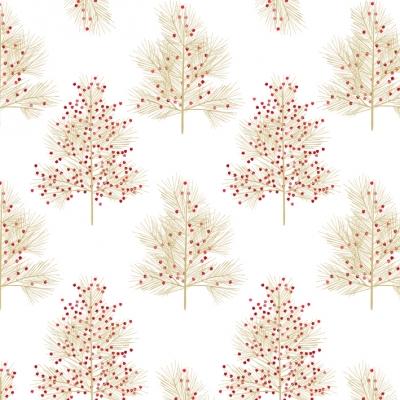 Lunch Servietten Winter Tree gold                 ,  Regionen - Wald / Wiesen,  Weihnachten,  lunchservietten,  Baum
