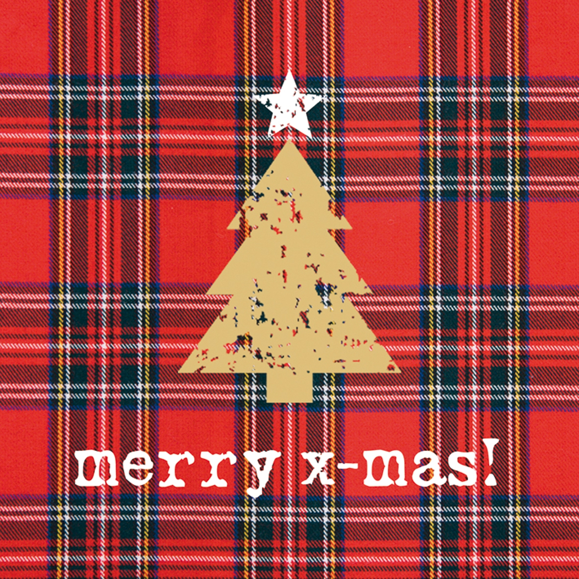 Lunch Servietten Tartan Tree red                 ,  Weihnachten - Weihnachtsbaum,  Weihnachten,  lunchservietten,  Weihnachtsbaum