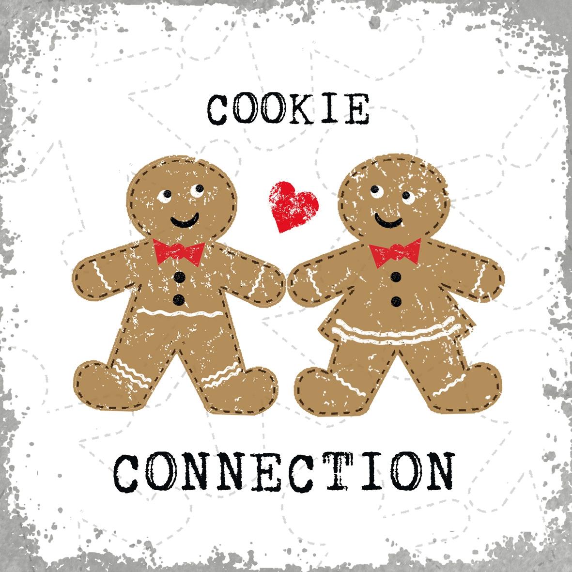 Lunch Servietten Cookie Connection,  Essen - Kuchen / Keks,  Weihnachten,  lunchservietten,  Lebkuchen