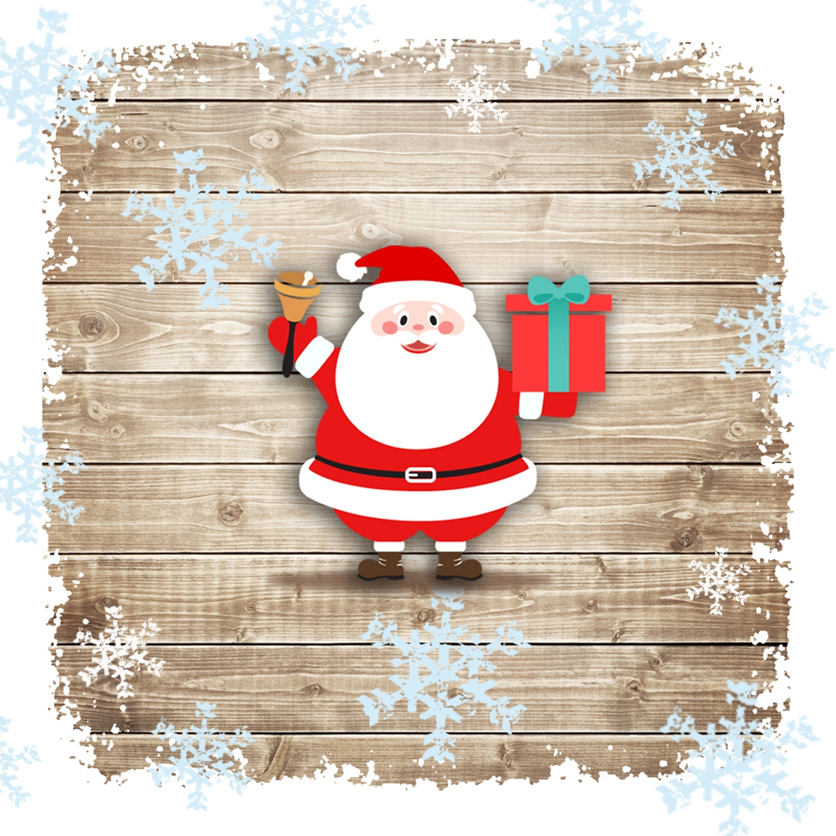 Lunch Servietten Santa Jingle Bell,  Weihnachten - Weihnachtsmann,  Weihnachten,  lunchservietten,  Weihnachtsmann