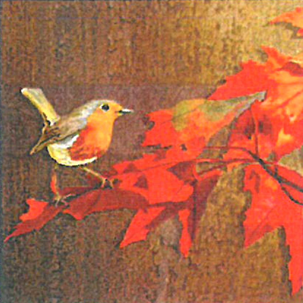 Servietten 33 x 33 cm,  Tiere - Vögel,  Herbst,  lunchservietten,  Vögel