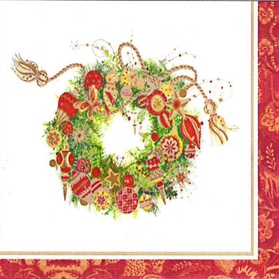 Lunch Servietten Spirit Wreath,  Weihnachten - Adventskranz,  Weihnachten,  lunchservietten,  Adventskranz,  Kranz