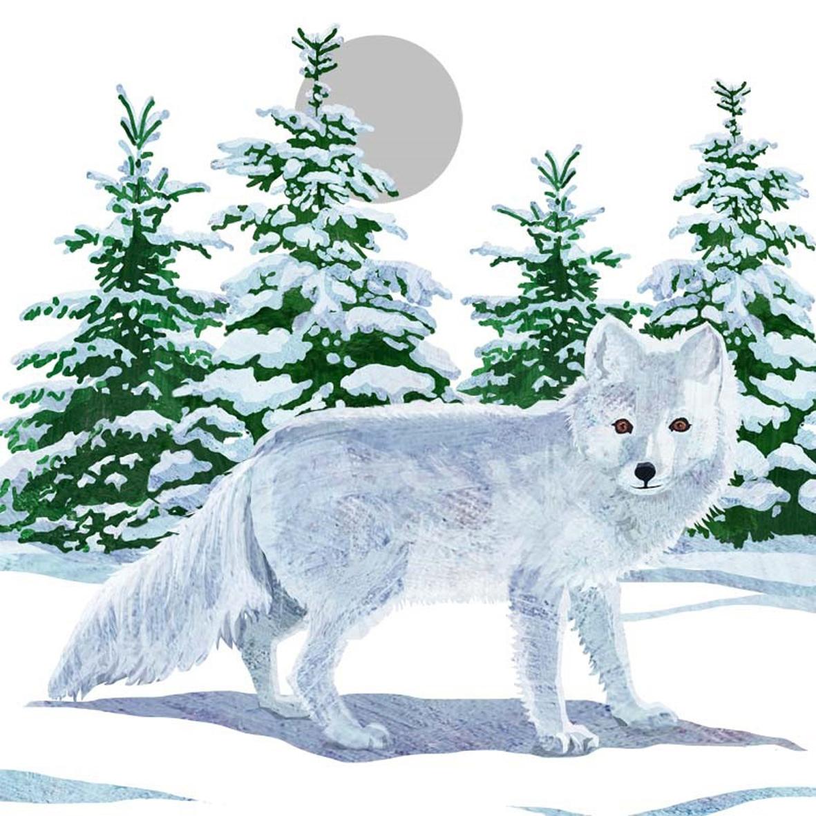 Paperproducts Design,  Tiere -  Sonstige,  Weihnachten,  lunchservietten,  Fuchs